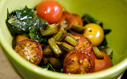 ensalada de verduras caliente